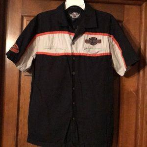 Harley Davidson Button Down Short Sleeve Shirt